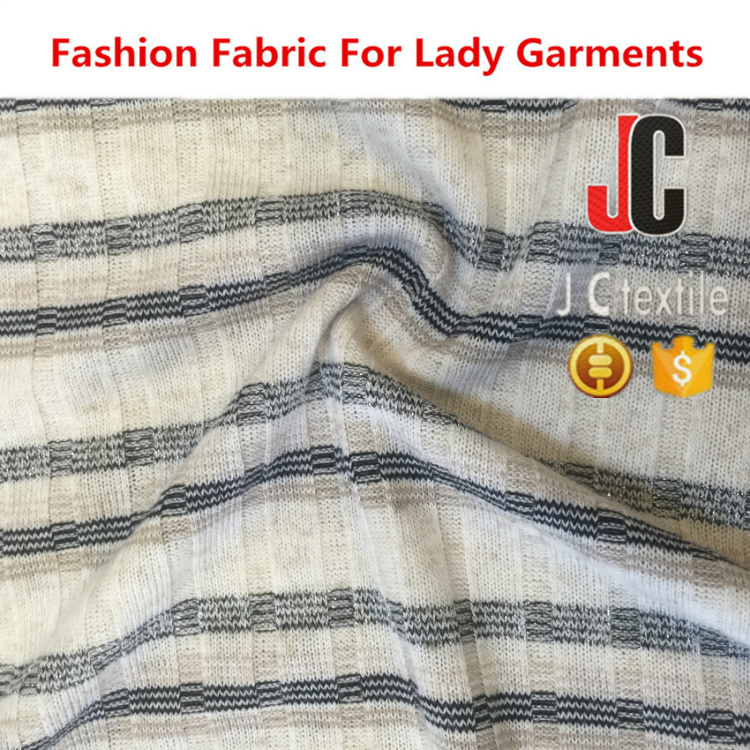 B2846 SHAOXING JC TEXTILE WHOLESALE IN STOCK POLYESTER LUREX LINEN FABRIC FOR GARMENT