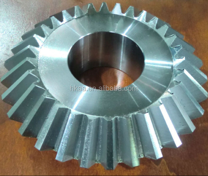 CNC machined stainless steel conical spiral toothed straight bevel gears