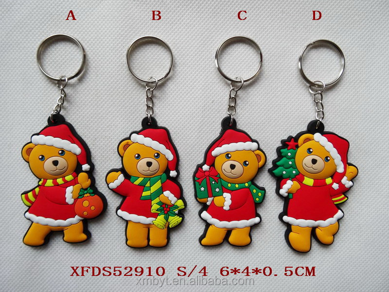 Christmas fridge magnet pvc keychain machine wholesale keychain