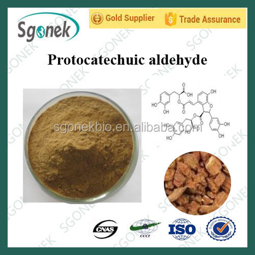 100% Natural extract Protocatechuic aldehyde/Protocatechualdehyde CAS139-85-5