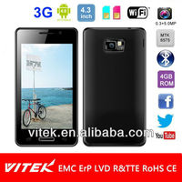 4.3 inch Android 4.0 MTK6575M Dual Sim 5MP Camera 3G Smart phone