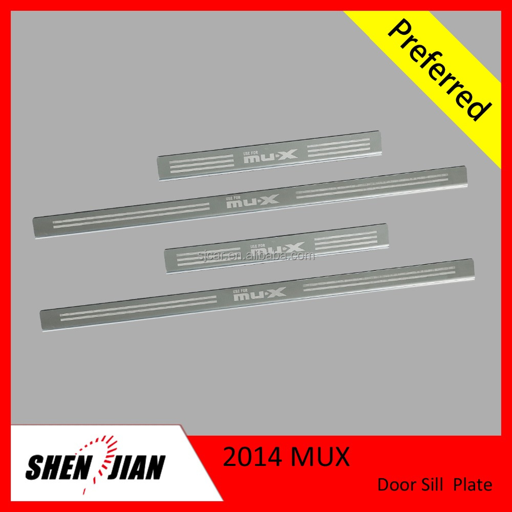 MUX Accessories Stainless Steel Car Door Sill Scuff Plate For Mux 2014