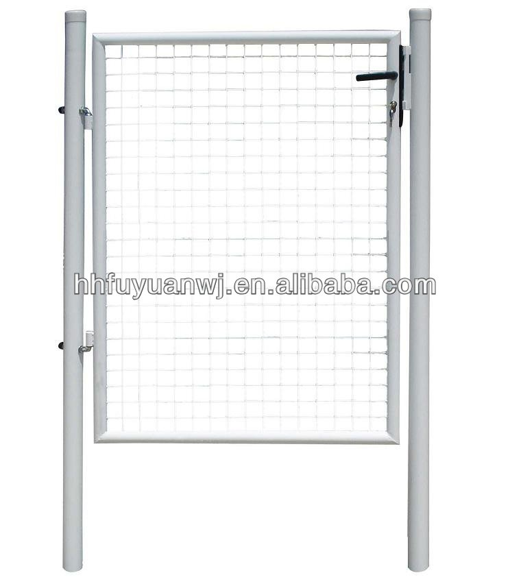 Powder coated metal single garden gate with cheap price