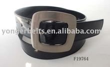 Wide Alloy Buckles Black Newest Leather Unique Mens Luxury Belt For Woman