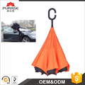 Dingfeng factory custom upside down inverted automatic 23*8k car umbrella with c handle