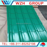cheap prepainted steel roofing sheet/color coated tile roofing/new product roofing tile from China supplier