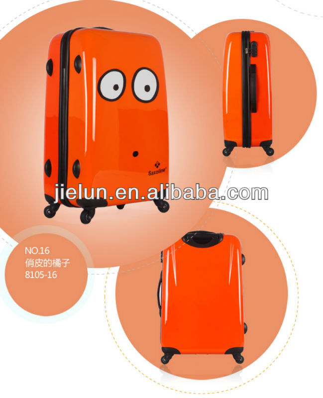 ORANGE BIG-EYES PC PRINTING SUITCASE
