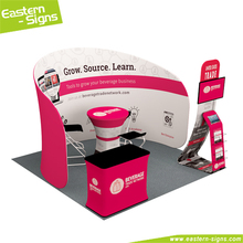 Carton Promotional Custom Portable Advertising Trade Show Exhibition Stall Design