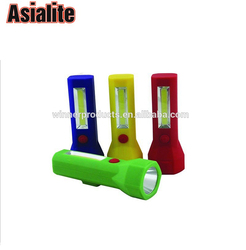 Hot sale flexible rechargeable COB led work flashlight