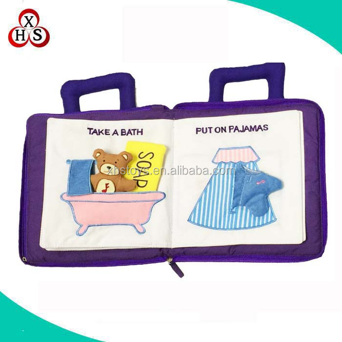 China wholesale educational handmade Quiet Book custom soft baby cloth book