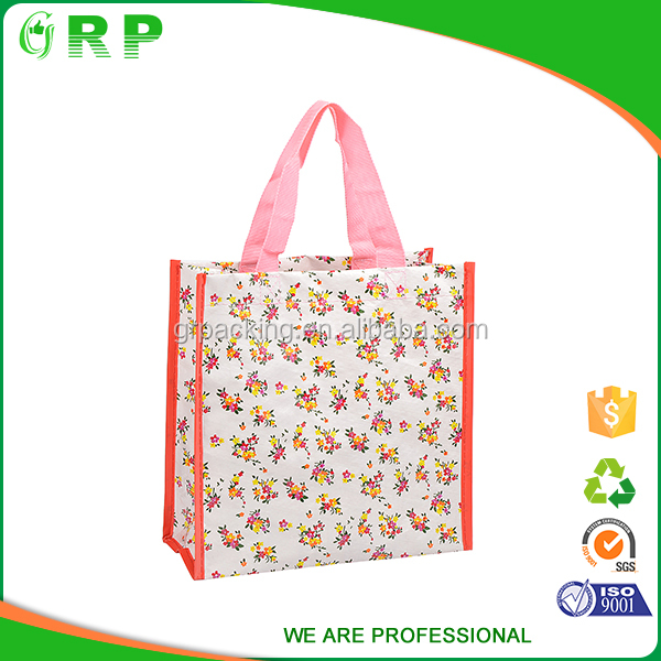 Vintage Design With Reusable Pp Woven Shopping Bag