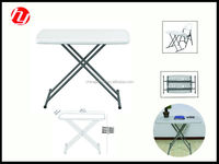 small cheap outdoor and indoor HDPE blow molding portable plastic white folding adjustable persoal table