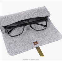 Hot sale soft polyester felt eyeglass case sunglasses case eyewear boxes