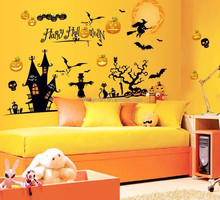 Happy halloween Home Decor halloween decoration Removable Wall Sticker Home Decor