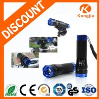 3W 3Modes Portable Aluminium Zoom LED Flashlight Torch 3W Zoom Mr Light