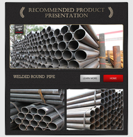 used liquid transportation Welded round steel pipe