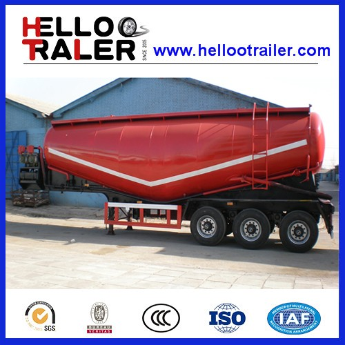 Truck Transport 3 Axles 55 Bulk Cement Trailer with Compressor