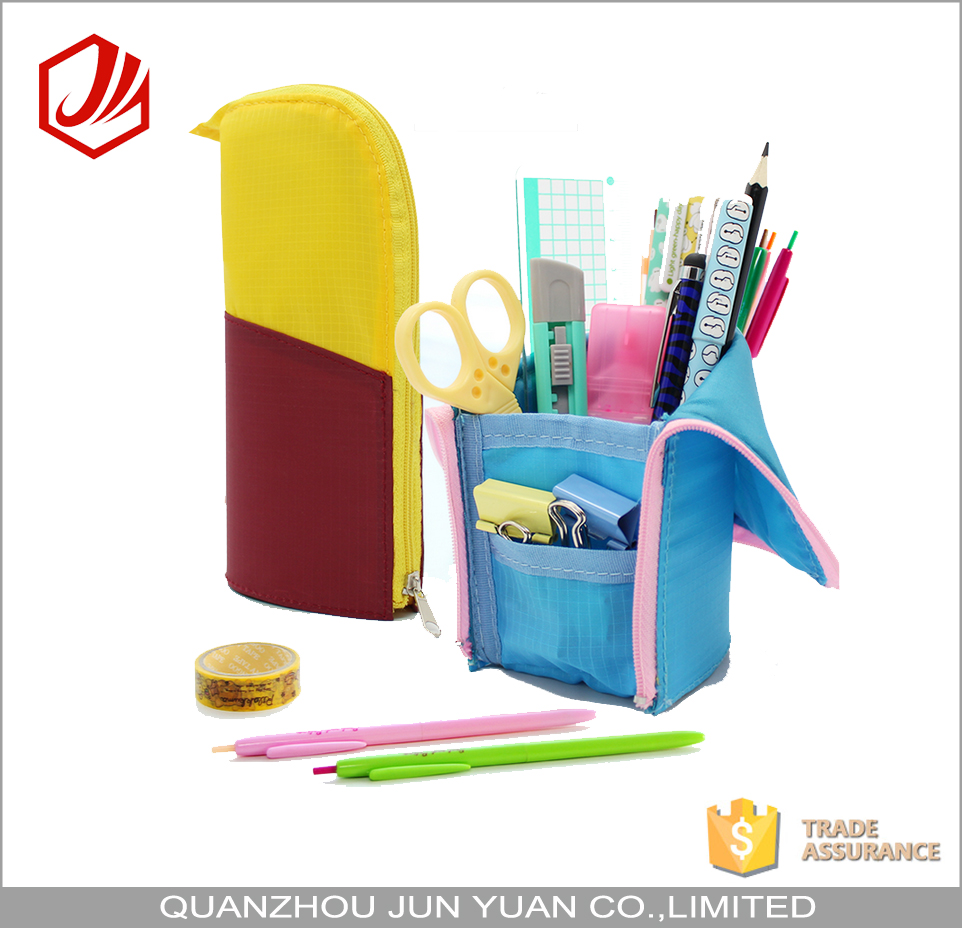 New Design nylon folding standing pencil case for pen packing