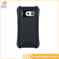 New design smart phone shockproof black phone case cover for samsung galaxy s6