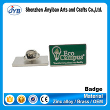 top grade customized company logo nameplate company work number work card with magnet