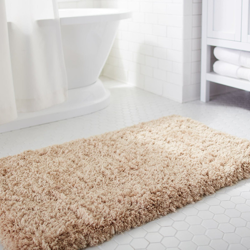 Non slip Absorption Shower Rug Soft Microfiber Antibacterial Rubber Bath Mat