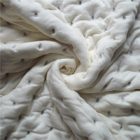 weft circular knitted fabric 40% cotton 60%polyester spring mattress fabric YJA-14061