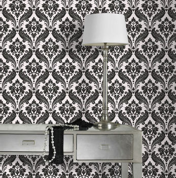 Graham & Brown Vintage Flock Wallpaper HD PVC 3d wall paper embossed Roll