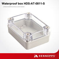 HENNEPPS Weatherproof Fireproof Rectangular Clear Plastic Box