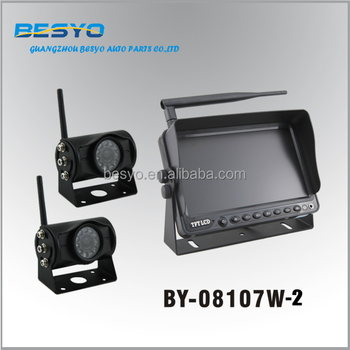 Wireless auto reversing camera system, 7 inch wireless camera with wireless monitor system BY-08117W-2