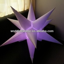 inflatable RGB lighting stars for event decoration