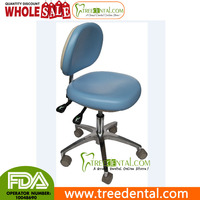 TR-809 Dental Medical Office Stools Assistant's Stools Adjustable Mobile Chair PU,aluminium lab stool