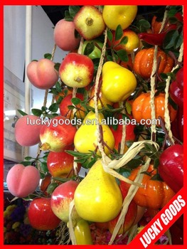 Artificial decorative wall hanging fruit for fruit shop or for Artificial fruit for decoration