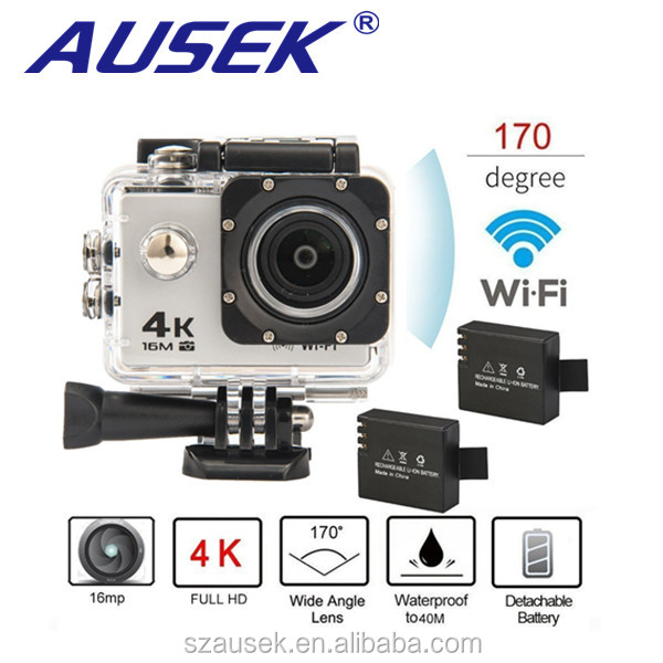 "4k 30fps 2.0"" LCD 173degree wide angle action cam waterproof mini wifi 4k sport camera"