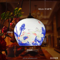 LED Vintage Pendant Light Porcelain Chinese Style Jingdezhen Hollow Ceramic Loft Coffee Bar Restaurant Kitchen Lights