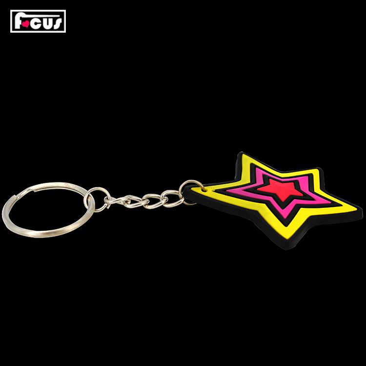 Hot Selling good quality customized rubber pvc keychain with fast delivery