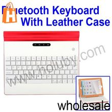For iPad 2 3 4 Bluetooth Keyboard,Metal 4000mAh Wireless Keyboard+Leather Case for iPad 2 3 4/The New iPad