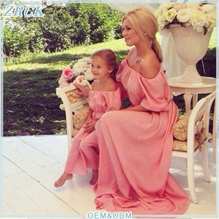 2017 Faddish family dress matching mother daughter clothes