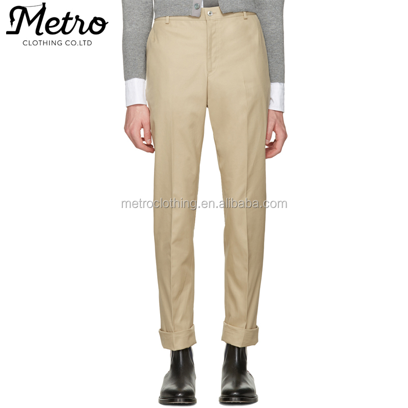 China Manufacturer Wholesale Casual Tan Twill Classic Holland Flag Chino Trousers