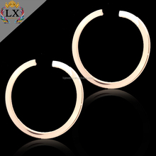 ELX-01016 high quality huggie earrings large gold hoop earrings brass open hoop earrings
