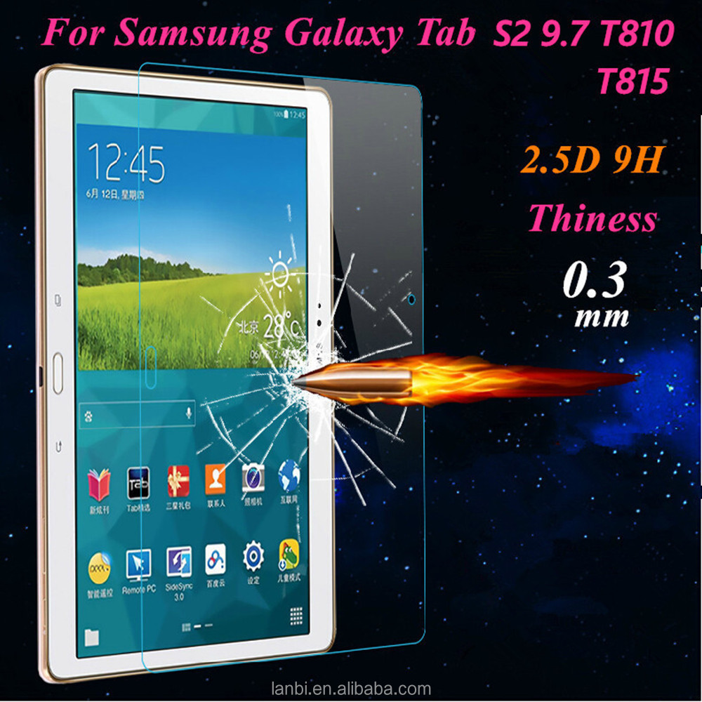 Premium 9H Explosion-proof Tempered Glass Screen Protector for Samsung Galaxy Tab S2 9.7inch Guard for Galaxy TabS2 T810 T815