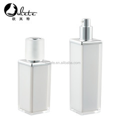 15ml White square acrylic cosmetic bottle with round cap