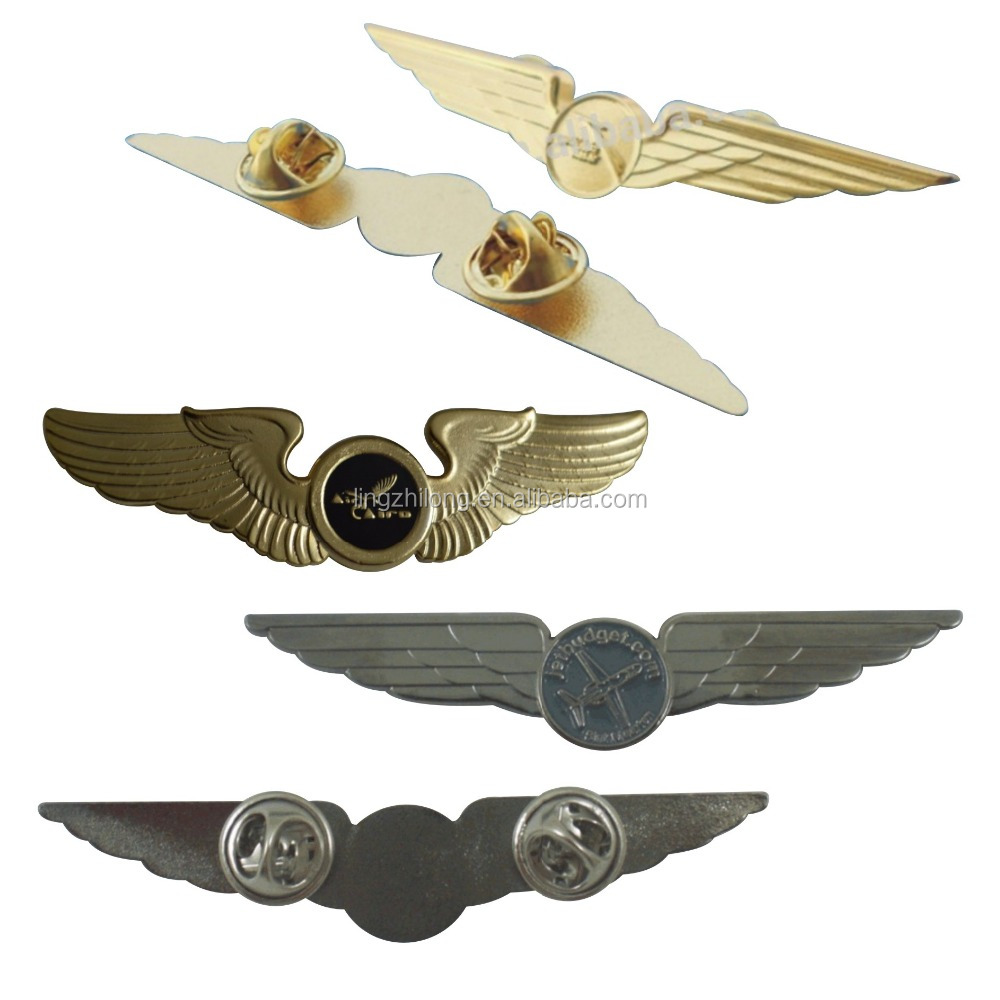 Custom Metal Pin Badge Wholesale Lapel Pin Pilot Wings