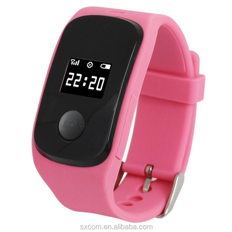 Kids wrist watch GPS tracker mobile phone
