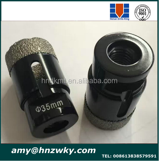 Vacuum brazed tipped core drill bit diamond for marble/granite/porcelain Diamond hole saw set with plastic box