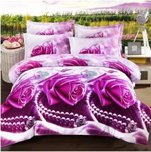 3D comforter cover set flower bed linen set made in china
