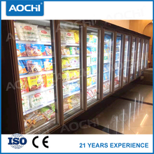 Quality commercial supermarket vertical close multideck showcase freezer for Chocolate selling
