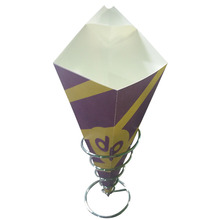 fast food use take-away food packaging crepe paper cone
