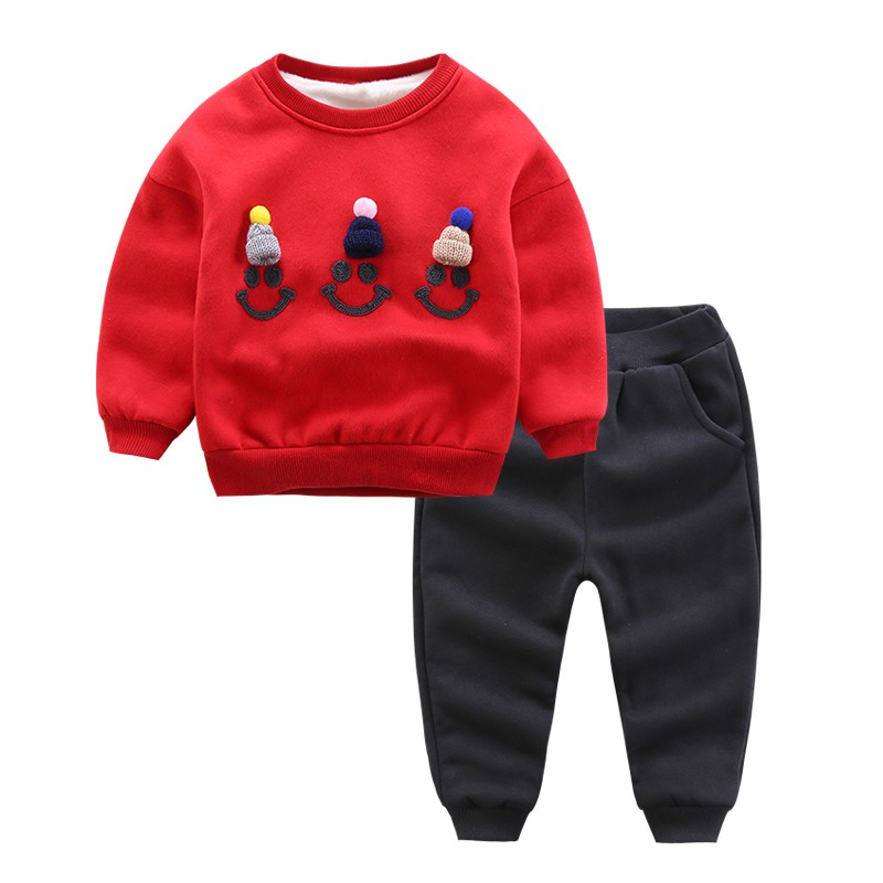 CROAL CHERIE 90-130cm Kids Clothes Boys Girls Winter Children Clothing Sets Tracksuit For Boys Hooded Coat Baby boy Clothes  (8)