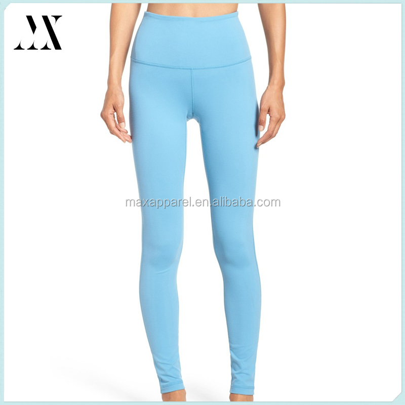 Womens fitness high waist leggings poly/spandex tight gym leggings quick drying yoga leggings
