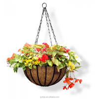 Metal Hanging Basket Planter With Chain